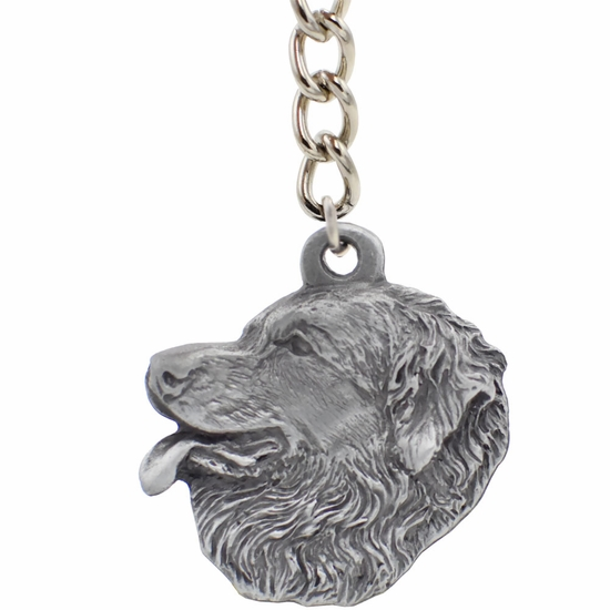 "Dog Breed Keychain USA Pewter - Leonberger (2.5"")"