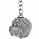 "Dog Breed Keychain USA Pewter - Mastiff (2.5"")"