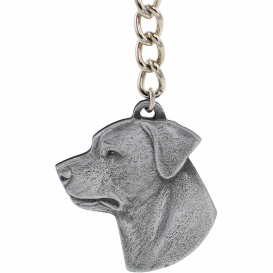 "Dog Breed Keychain USA Pewter - Rottweiler (2.5"")"