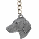 "Dog Breed Keychain USA Pewter - Vizsla (2.5"")"