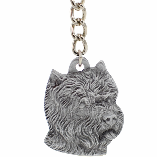 "Dog Breed Keychain USA Pewter - West Highland Terrier (2.5"")"