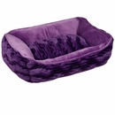 Dogit Cuddle Bed Wild Animal Purple - XSmall