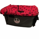 "FidoRido® Pet Car Seat - Red/Black (24""x18x10"")"