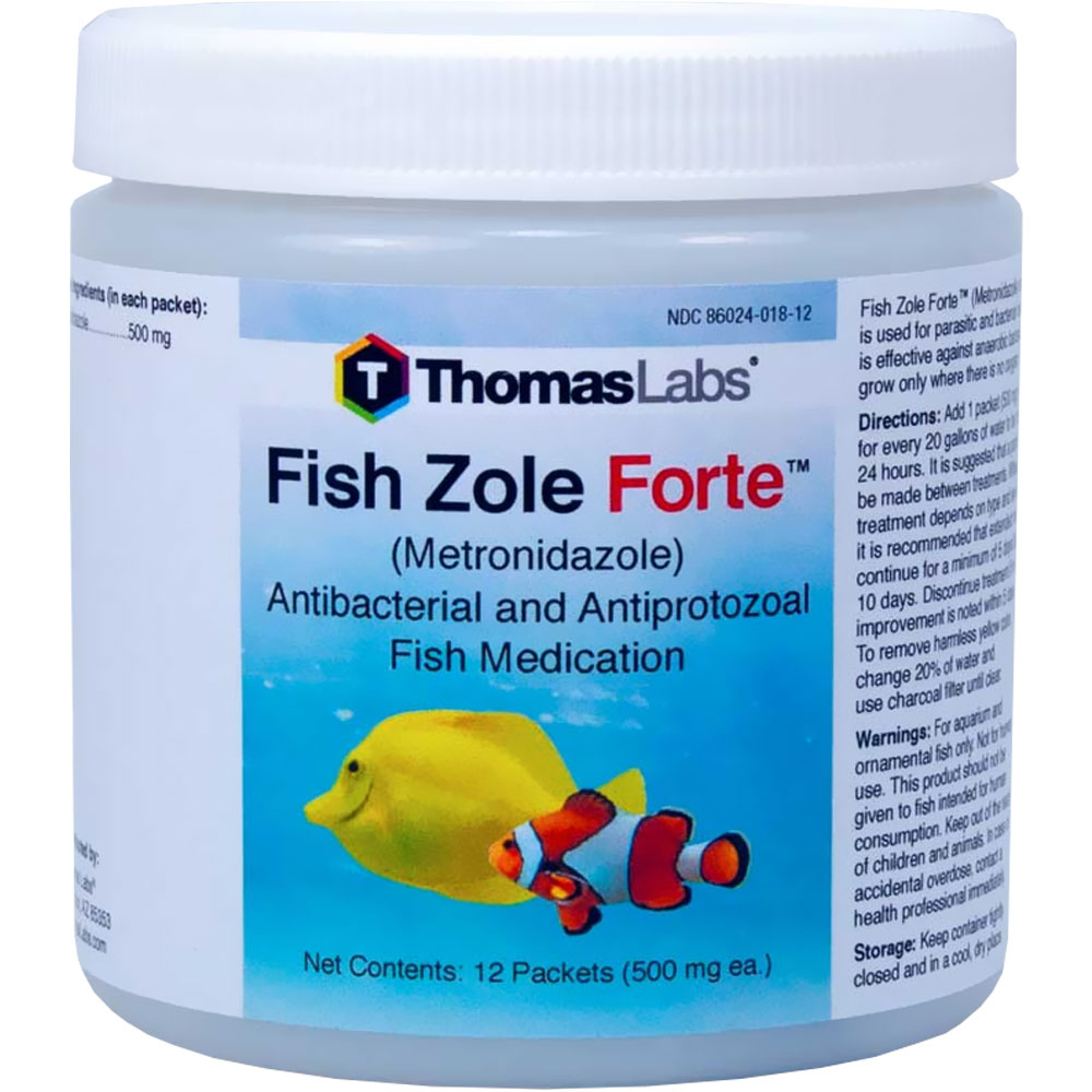 Fish zole forte 500mg metronidazole powder 12 packets for Fish zole 500 mg