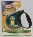 Flexi Comfort 2 Retractable CORD Leash for Dogs up to 44 lbs (GREEN)