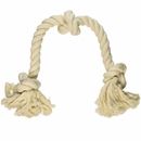 Flossy Chews 100% Cottonblend Color 3-Knot Rope Tug - Large 25""