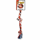 Flossy Chews Cottonblend Color 3-Knot Rope Tug - Large 25""