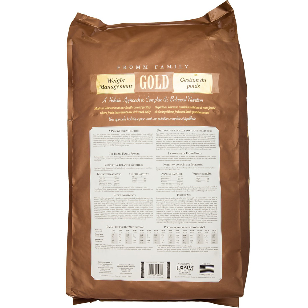 Fromm Gold Weight Management Dry Dog Food Lb