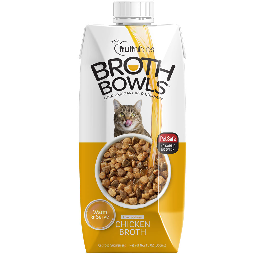 Fruitables Broth Bowls for Cats - Chicken (16.9 fl oz ...