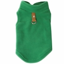 Gooby Fleece Vest for Dogs Green - Large