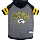 Green Bay Packers Dog Hoody Tee Shirt - Medium