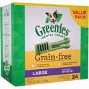 Greenies Dental Chews Grain Free Value Pack - LARGE 24 Treats (36 oz)