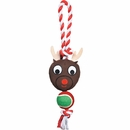 Grriggles Holiday Rope Tennis Tug - Reindeer