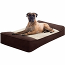 "JLA Pets Shadow Pillow Top Stretch Lounger - Brown (42x24"")"