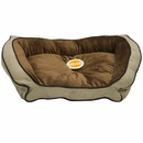 "K&H Bolster Couch Pet Bed Mocha/Tan - Large (28""x40"")"