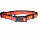Kansas City Chiefs Dog Collar - Ribbon (Large)