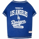 Los Angeles Dodgers Dog Tee Shirt - Medium