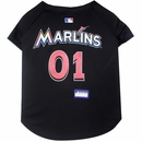 Miami Marlins Dog Jersey - Small