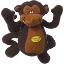 Multipet Deedle Dudes Monkey Dog Toy - 8""