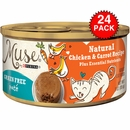 Muse Natural Chicken & Carrot Cat Food Pate (24x3oz)
