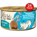 Muse Natural Ocean Whitefish & Mackerel Cat Food Pate (24x3oz)