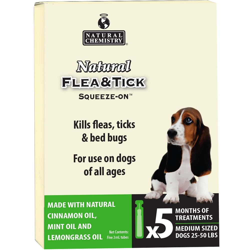 natural chemistry natural flea tick squeeze on for dogs 25 50 lbs 5 months healthypets. Black Bedroom Furniture Sets. Home Design Ideas