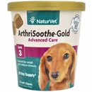 NaturVet ArthriSoothe-Gold Advance Care Small & Medium Breeds - Level 3 (70 Soft Chews)