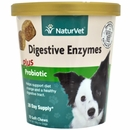 NaturVet Digestive Enzymes Plus Probiotic (70 Soft Chews)