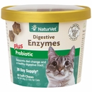 NaturVet Digestive Enzymes Plus Probiotics for Cats (60 Soft Chew)