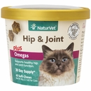 NaturVet Hip & Joint Plus Omegas for Cats (60 Soft Chew)