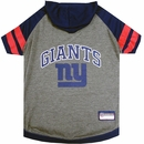 New York Giants Hoody Dog Tee Shirt - Large