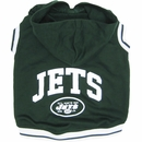 New York Jets Hoody Dog Tee Shirt - Large