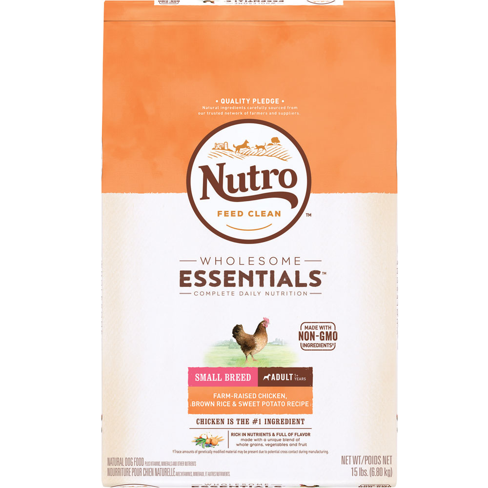Natural Balance Dog Food Coupons >> Nutro Wholesome Essentials Small Breed Chicken, Brown Rice & Sweet Potato - Adult Dog (15 lb)