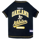 Oakland Athletics Dog Tee Shirt - XSmall