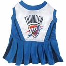 Oklahoma City Thunder Cheerleader Dog Dress - Medium