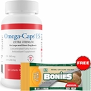 Omega-Caps ES For Large & Giant Dogs (60 Softgel Capsules) + Free BONIES Skin and Coat Health MEDIUM SINGLE BONE (1.43 oz)