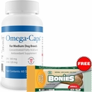 Omega-Caps For Medium Dogs (60 Softgel Capsules) + Free BONIES Skin and Coat Health SMALL SINGLE BONE (0.81 oz)