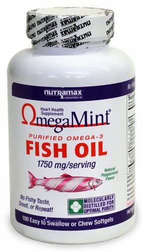 Omega mint 100 chewable softgels for Fish oil for skin