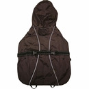 """One For Pets All-Weather Dog Coat - Brown 14"""""""