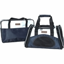 One for Pets One Bag Expandable Pet Carrier - Navy (Large)