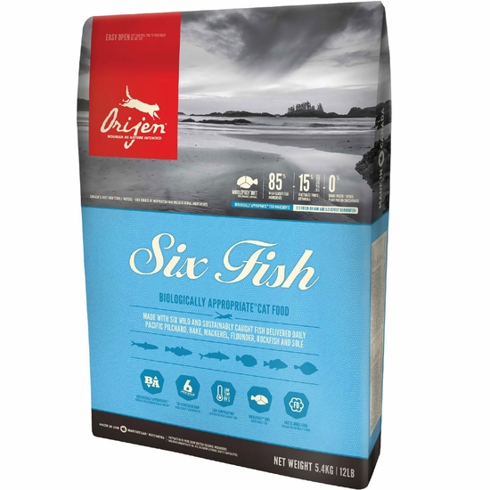 Orijen 6 Fish Cat Food (15 lb)