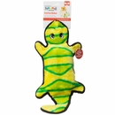 Outward Hound Invincibles 4 Squeak Gecko - Yellow/Green
