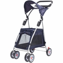 Outward Hound® Walk N Roll Pet Stroller - Navy Blue
