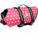 Paws Aboard Pet Life Jacket - Pink Polka Dot (Medium)