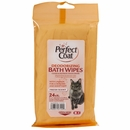 Perfect Coat Deodorizing Bath Wipes for Cats (24 ct)