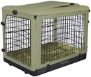 """Pet Gear The Other Door Steel Crate with Plush Pad 27"""" - Sage"""