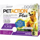 PetAction Plus Flea & Tick Treatment for Large Dogs 45-88 lbs - 3 MONTH
