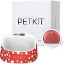 PETKIT P2 Smart Activity Monitoring Pet Tracker - Red & PETKIT FRESH Smart Digital Feeding Pet Bowl - Red/White
