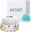 PETKIT P2 Smart Activity Monitoring Pet Tracker - Teal/Blue & FRESH Smart Digital Feeding Pet Bowl - Brick Pattern