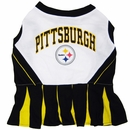 Pittsburgh Steelers Cheerleader Dog Dress - Medium